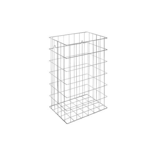 Ernst Wagner GmbH & Co. KG Wagner EWAR Gitterkorb, 72 Liter, Papierkorb für Bodenaufstellung und Wandmontage geeignet, WP 150-1, Edelstahl Optik