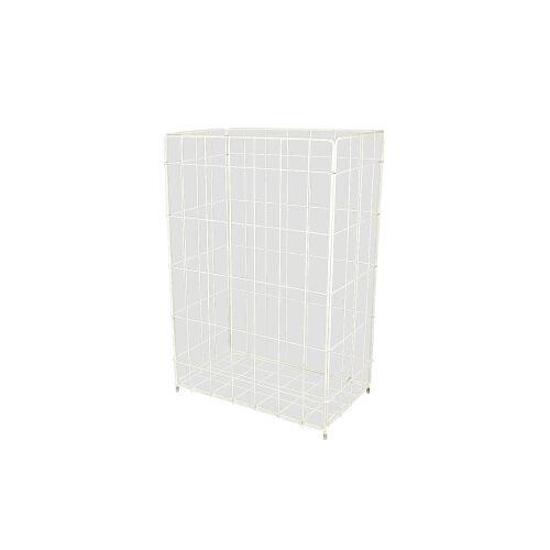 JM-Metzger GmbH Faltbarer Papierkorb, 50 Liter, Zum Hängen und Stellen, Maße: 33 x 64 x 25,5 cm, Farbe: weiß