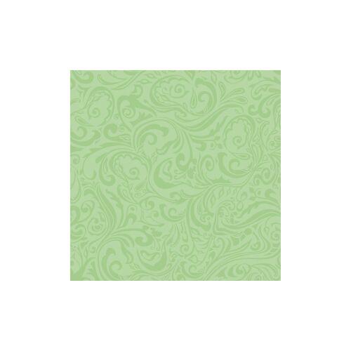 "Mank GmbH Tissue + Paper Products ""Mank Airlaid Linclass Servietten Ornaments """"LIAS"""", 25 x 25 cm, 1/4 Falz, 1 Karton = 12 x 50 Stück = 600 Servietten, pistazie"""