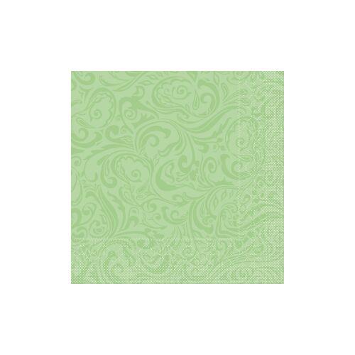 """Mank GmbH Tissue + Paper Products """"Mank Tissue Servietten Ornaments """"""""LIAS"""""""", 40 x 40 cm, 1/4 Falz, 3-lagig, 1 Karton = 6 x 100 Stück = 600 Servietten, pistazie"""""""