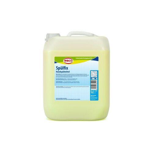 Weco GmbH WECO Spülfix Handspülmittel, Für alle Spül- und Reinigungsvorgänge in Gastronomie, Industrie und Haushalt, 10 Liter - Kanister
