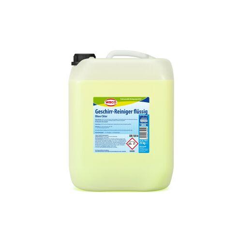 Weco GmbH WECO Geschirr-Reiniger flüssig OC, Intensivreiniger für Spülmaschinen - ohne Chlor, 25 kg - Kanister