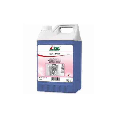 Tana Chemie GmbH TANA SOFT fresh Weichspüler, Antistatischer Weichspüler mit lang anhaltendem Duft, 5 l - Kanister