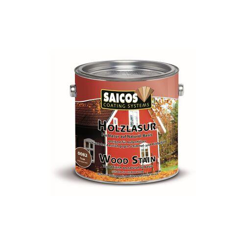 SAICOS COLOUR GmbH SAICOS Holzlasur, teak, Schützt Holz gegen Schimmel und Pilzbefall im Außenbereich, 2,5 Liter - Dose