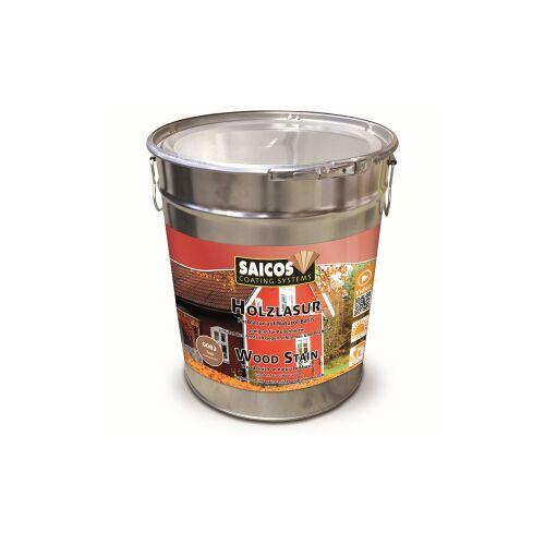 SAICOS COLOUR GmbH SAICOS Holzlasur, teak, Schützt Holz gegen Schimmel und Pilzbefall im Außenbereich, 10 Liter - Eimer
