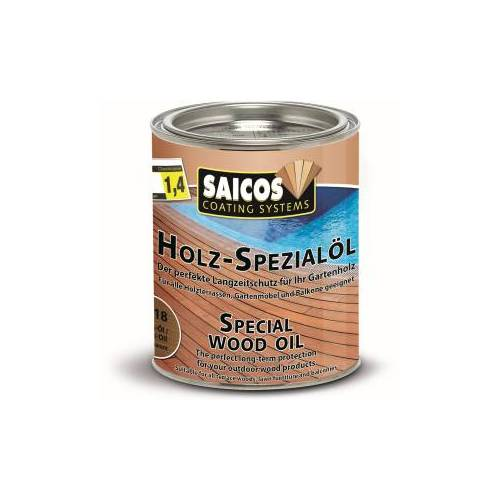 SAICOS COLOUR GmbH SAICOS Holzspezialöl, teak, Premium Schutz für alle Holzterrassen und Gartenmöbel, 750 ml - Dose