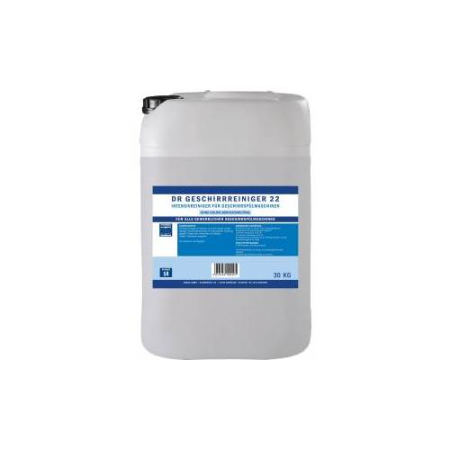 DR Gewerbe Spülmaschinenreiniger 22 chlorfrei, Intensivereiniger für Geschirrspülmaschinen, 25 kg - Kanister