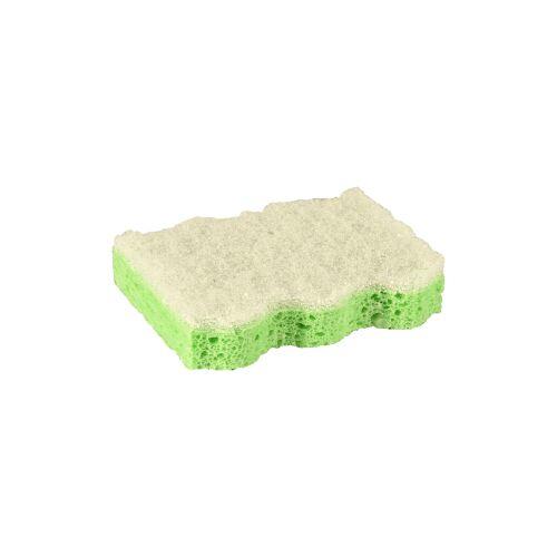 PAPSTAR  GmbH Papstar Topfreiniger-Schwamm, grün, Abmessungen: 9,5 x 6,4 x 2 cm, 1 Packung = 5 Topfreiniger