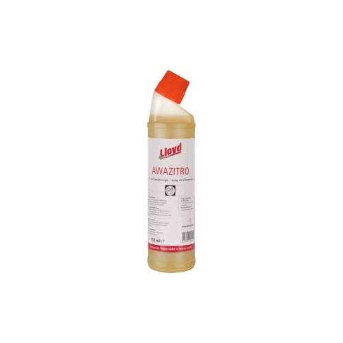 Lloyd AWAZITRO Sanitärreinigungs-Gel, Auf Zitronensäurebasis, 1 Karton = 15 Flaschen á 750 ml