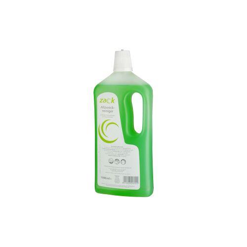 ZACK Allzweckreiniger, Zitrone, Ein kraftvoller Flächenreiniger mit Zitronenfrische, 1 Karton = 12 Flaschen á 1000 ml