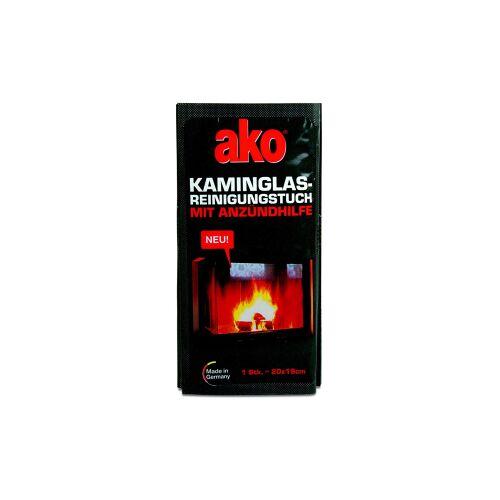 DELU-AKO-MINKY GmbH ako® Kaminglas Reinigungstuch, Fruchttuch zur Reinigung von Kaminglas, 1 Packung = 3 Stück