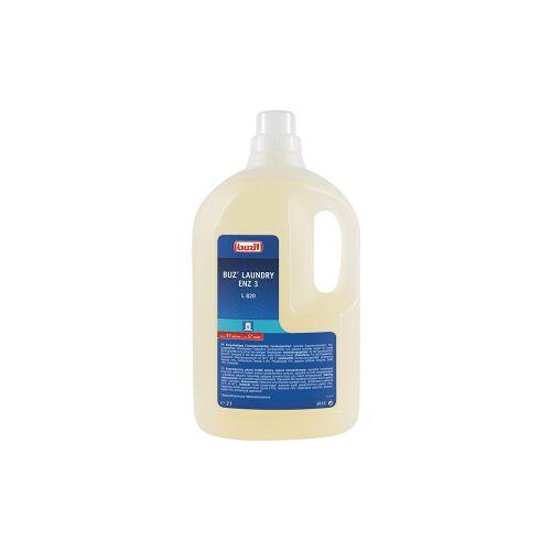 Buzil GmbH & Co. KG Buzil Vollwaschmittel Buz® Laundry Enz 3 L 820, Enzymhaltiges Flüssigwaschmittelkonzentrat, 2 Liter - Flasche