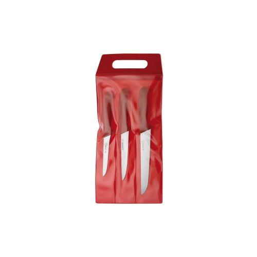 Johannes Giesser Messerfabrik GmbH Giesser Messer-Set, 3-teilig, Mit starken Klingen, Farbe: rot