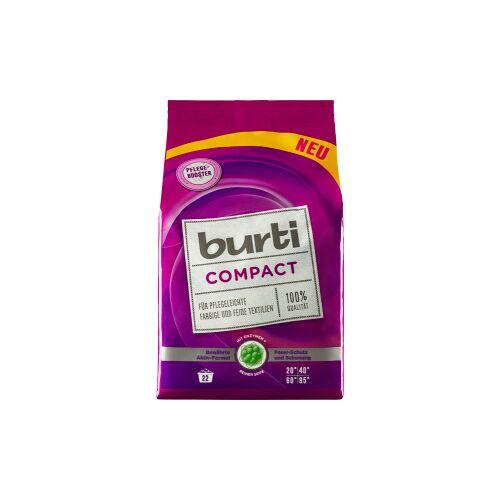 Burnus GmbH burti Compact Colorwaschpulver, Pulverförmiges Waschpulver für pflegeleichte, farbige und feine Textilien, 1 Packung = 1,1 kg, für 18 Waschladungen