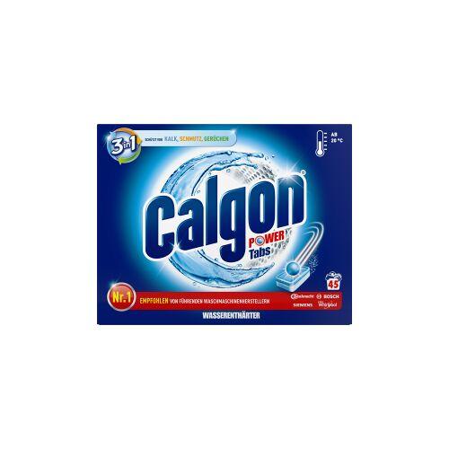 Reckitt Benckiser Deutschland GmbH Calgon 3in1 Waschmaschinen-Wasserenthärter Power-Tabs, Waschmaschinentabs schützt die Waschmaschine gegen Kalk, Schmutz und Gerüchen, 1 Packung = 45 Tabs