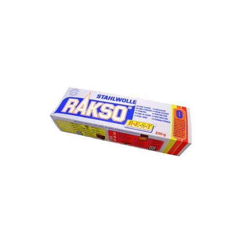Rakso Stahlwolle, 200 g - Packung, Sorte: 0-mittel