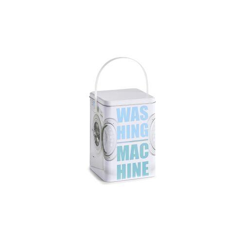 Zeller Present Handels GmbH Zeller Washing machine Waschpulver-Box, Waschpulverbehälter mit Tragegriff, Maße: ca. 15 x 15 x 21 cm