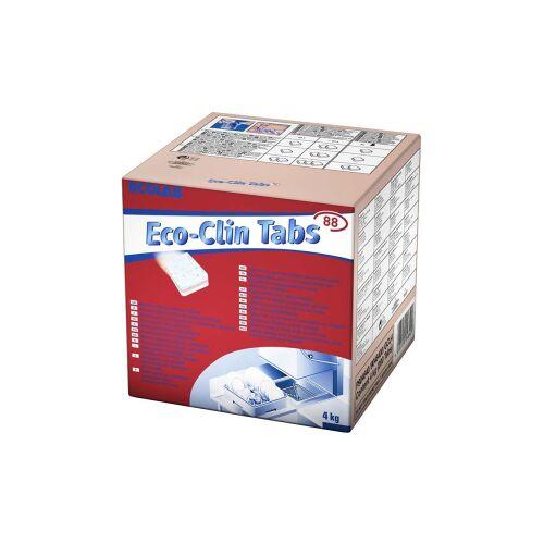 Ecolab GmbH & Co. OHG ECOLAB Eco-clin Tabs Geschirrspül-Tabs, Geschirrspültabs für Geschirrspülmaschinen , 1 Karton = 200 Tabs à ca. 20 g