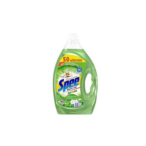 Henkel AG & Co. KGaA Spee Aktiv Gel Nature Vollwaschmittel, Waschmittel mit 77% pflanzenbasierte Inhaltsstoffe für natürliche Waschkraft, 2,5 Liter - Flasche für ca. 50 Waschladungen