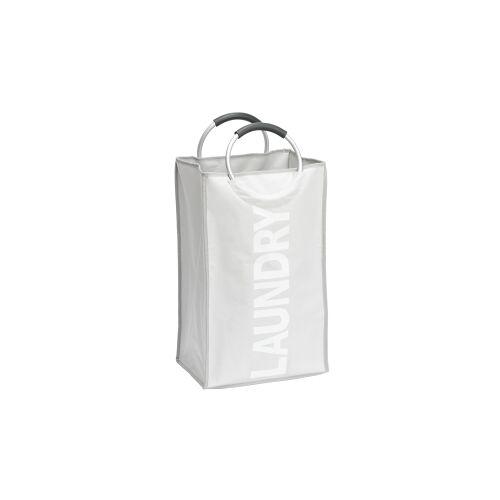 Wenko-Wenselaar GmbH & Co. KG WENKO Stone Wäschesammler, Wäschekorb, 44 l, Flexibler Wäschekorb mit Softgrip Tragegriffen, Maße: 34 x 54 x 24 cm, Farbe: grau