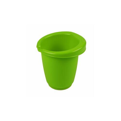 Gies GmbH & Co.  Kunststoffwerk KG Gies greenline Rührbecher, 1 Liter, Schüssel zum Umrühren mit Gummiring, Maße: Ø 15,5 x 16 cm, grün