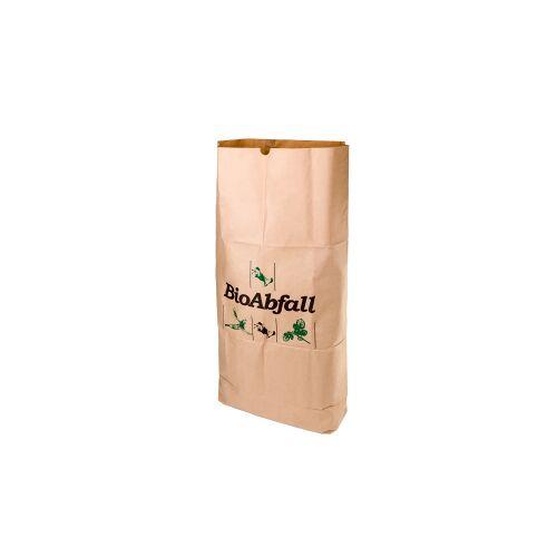 Naturabiomat GmbH BIOMAT® Bioabfallsack aus Kraftpapier, 120 Liter, Bioabfallsäcke biologisch abbaubar und kompostierbar, 1 Bündel = 25 Stück, 1-lagig nassfest