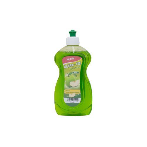 Reinex Chemie GmbH Reinex Ultra-Fix Spülmittel, Handspülmittel mit hoher Fettlösekraft, 500 ml - Flasche, Apfel
