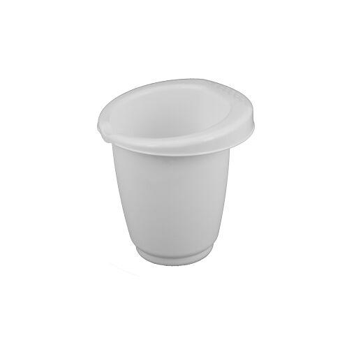 Gies GmbH & Co.  Kunststoffwerk KG Gies greenline Rührbecher, 1 Liter, Schüssel zum Umrühren mit Gummiring, Maße: Ø 15,5 x 16 cm, weiß