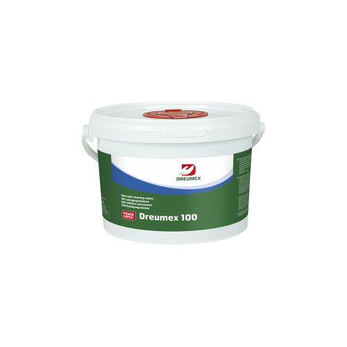 Dreumex B.V. Dreumex 100 Reinigungstücher, Handreinigungstücher für die Reinigung ohne Wasser, 1 Eimer = 100 Tücher