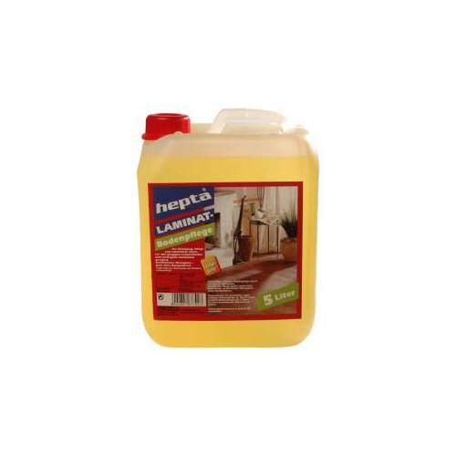 HEINRICH HAGNER GmbH & Co hepta Laminatbodenpflege, Für einen sauberen und gepflegten Laminatboden, 5 Liter - Kanister