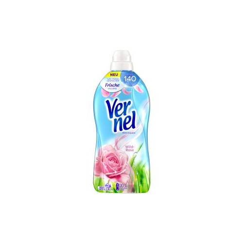 Henkel AG & Co. KGaA Vernel Wild-Rose Weichspüler , Konzentrat mit natürlichen Rosen-Essenzen, 1,8 Liter - Flasche