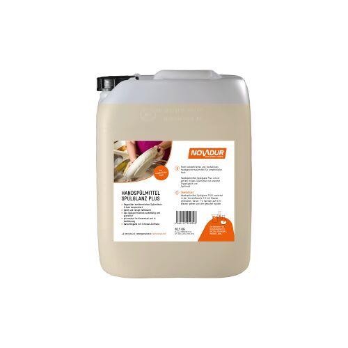 HOEBINK Reinigungsmittel GmbH NOVADUR Handspülmittel Spülglanz PLUS, Mildes Handspülmittel, enorm ergiebig, 10,1 kg - Kanister