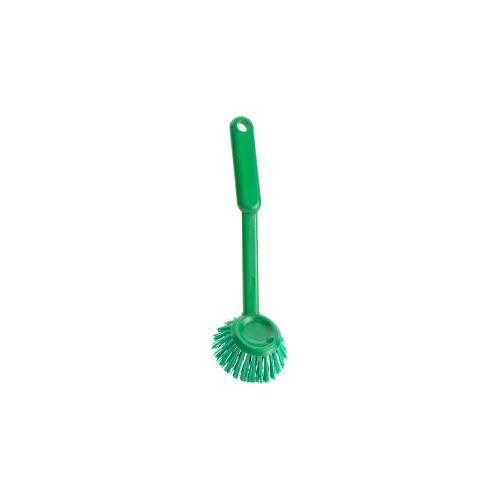 haug bürsten Haug Spülbürste, rund, Geschirrbürste mit Polyester PBT Besatzmaterial, Komplettfarbe: grün