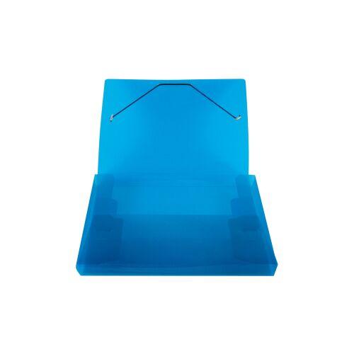 STYLEX Schreibwaren GmbH STYLEX® Heftbox, DIN A4, Abheftbox mit Gummizugverschluss, farbig sortiert