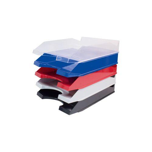 STYLEX Schreibwaren GmbH STYLEX® Ablagekorb, Offene Box zum Ablegen und Sortieren von Dokumenten, farbig sortiert
