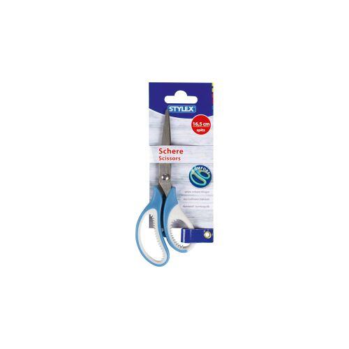 STYLEX Schreibwaren GmbH STYLEX® Schere, Trendfarben, Mit Kunststoff-Komfortgriffen, farbig sortiert