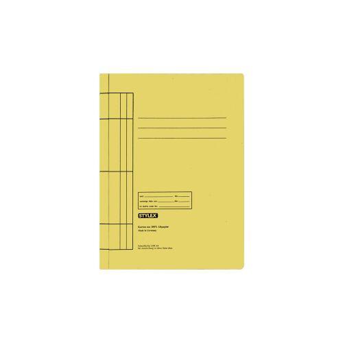 STYLEX Schreibwaren GmbH STYLEX® Manila Schnellhefter, Farbige Mappe für die Schule, 1 Packung = 25 Stück, Farbe: gelb
