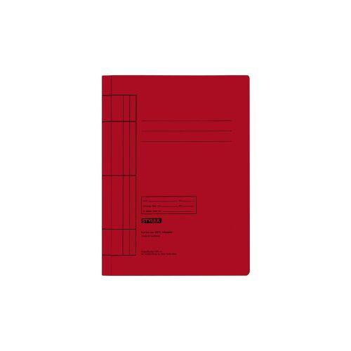 STYLEX Schreibwaren GmbH STYLEX® Manila Schnellhefter, Farbige Mappe für die Schule, 1 Packung = 25 Stück, Farbe: rot