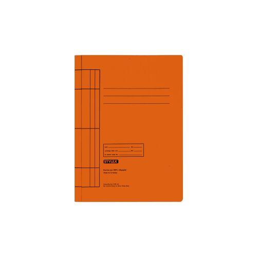 STYLEX Schreibwaren GmbH STYLEX® Manila Schnellhefter, Farbige Mappe für die Schule, 1 Packung = 25 Stück, Farbe: orange