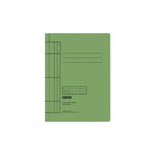 STYLEX Schreibwaren GmbH STYLEX® Manila Schnellhefter, Farbige Mappe für die Schule, 1 Packung = 25 Stück, Farbe: grün