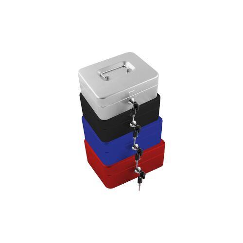 STYLEX Schreibwaren GmbH STYLEX® Geldkassette, Bargeldbox aus Vollmetall, Maße (B x L x H): 20 x 16 x 8,5 cm, farbig sortiert