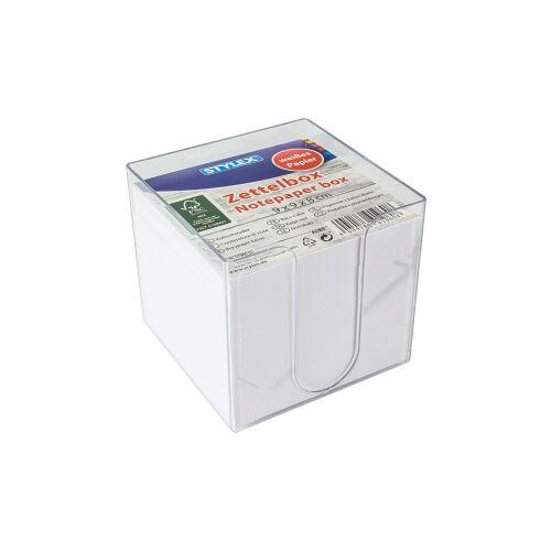 STYLEX Schreibwaren GmbH STYLEX® Zettelbox, Ca. 700 Zettel für allerlei Notizen, 1 Box = 700 Blatt, weißes Papier