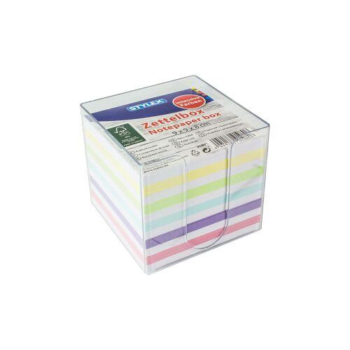 STYLEX Schreibwaren GmbH STYLEX® Zettelbox, Ca. 700 Zettel für allerlei Notizen, 1 Box = 700 Blatt, farbiges Papier
