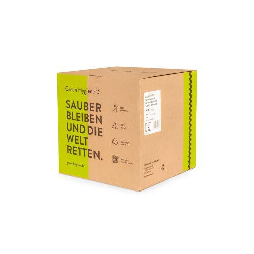 Huchtemeier Papier GmbH Green Hygiene® HANNELORE Handtuchrolle, 2-lagig, Umweltfreundliche Rollenhandtücher aus 100% recyceltem Papier, 1 Karton = 8 Rollen