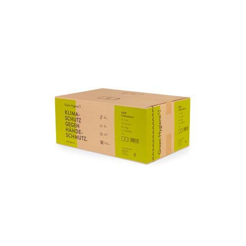 Huchtemeier Papier GmbH Green Hygiene® FALK Falthandtücher, 1-lagig, V-Falz Handtuchpapier aus 100% recyceltem Papier, 1 Karton = 20 Packungen à 250 Tücher
