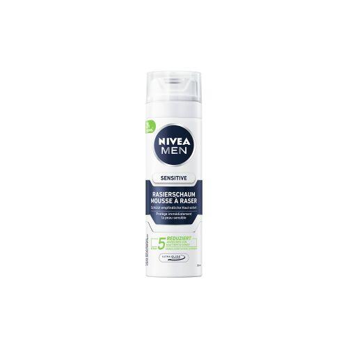 Beiersdorf AG NIVEA MEN Sensitive Rasierschaum, Milder Rasierschaum für empfindliche Haut, 200 ml - Dose