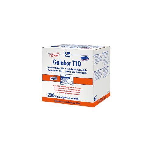 Dr. Becher GmbH Dr. Becher Galakor T10 Geschirrreiniger-Tabs, Geschirrspültabs für den gewerblichen Bereich, 1 Packung = 200 Stück