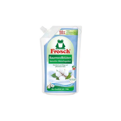 Rex Frosch Sensitiv-Weichspüler, Textilerfrischer auf pflanzlicher Basis, Baumwollblüten - 1000 ml - Beutel