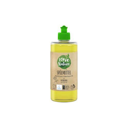Love Nature Spülmittel, Verbena, Umweltfreundliches Handspülmittel für strahlend sauberes Geschirr , 1 Karton = 6 x 470 ml - Flaschen
