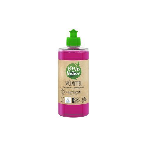 Love Nature Spülmittel, Cherry Blossom, Umweltfreundliches Handspülmittel für strahlend sauberes Geschirr , 470 ml - Flasche